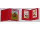 Part No: 33009pb011  Name: Minifigure, Utensil Book 2 x 3 with Rabbit, Birds and Flowers Pattern (Stickers) - Set 3143