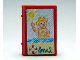 Part No: 33009pb027  Name: Minifigure, Utensil Book 2 x 3 with Holiday Brochure Children's Paradise Pattern (Stickers) - Set 3117