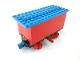 Part No: 3443c04  Name: Train Battery Box Car with Two Contact Holes, Red Switch Lever, Blue and Red Magnets, Red Wheels, and Blue Roof