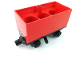 Part No: 3443c07  Name: Train Battery Box Car with Three Contact Holes, Black Switch Lever, Black Magnets, and Black Wheels