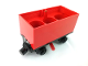 Part No: 3443c08  Name: Train Battery Box Car with Three Contact Holes, Red Switch Lever, Black Magnets, and Black Wheels