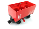 Part No: 3443c08pb01  Name: Train Battery Box Car with Three Contact Holes, Red Switch Lever, Black Magnets, and Black Wheels with 'DB 7722' Pattern on Both Sides (Stickers) - Set 7722