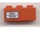 Part No: 3622pb016L  Name: Brick 1 x 3 with 'Wien - Zürich' Pattern on Left Side (Sticker) - Set 7745