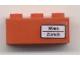 Part No: 3622pb016R  Name: Brick 1 x 3 with 'Wien - Zürich' Pattern on Right Side (Sticker) - Set 7745