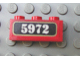Part No: 3622pb022  Name: Brick 1 x 3 with White '5972' on Black Pattern (Sticker) - Hogwarts Express