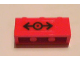 Part No: 3622pb036  Name: Brick 1 x 3 with Train Logo Black Pattern (Sticker) - Set 7898