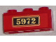 Part No: 3622pb043  Name: Brick 1 x 3 with Gold '5972' on Black Background Pattern (Sticker) - Set 4841