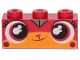Part No: 3622pb110  Name: Brick 1 x 3 with Cat Face Wide Eyes and Smiling Pattern (Calm-Down Kitty)
