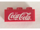 Part No: 3622pb119  Name: Brick 1 x 3 with White Coca-Cola Logo on Red Background Pattern (Sticker) - Set 4465