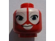 Part No: 3626bpb0553  Name: Minifigure, Head Alien with SW Shaak Ti, Large Blue Eyes, White Lips Pattern - Blocked Open Stud