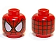Part No: 3626cpb0786  Name: Minifigure, Head Alien with Spider-Man Black Web and Large White Eyes Pattern - Hollow Stud