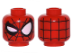 Part No: 3626cpb1534  Name: Minifigure, Head Alien with Spider-Man Black Web and Right Eye Wink Pattern - Hollow Stud