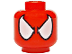 Part No: 3626cpb1634  Name: Minifigure, Head Alien with Spider-Man Eyes and No Web Pattern - Hollow Stud