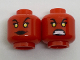 Part No: 3626cpb1802  Name: Minifigure, Head Dual Sided Alien Female with Yellow Eyes, Black Lips, Smile / Teeth Bared Fierce Pattern - Hollow Stud
