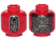 Part No: 3626cpb2126  Name: Minifigure, Head SW Kessel Operations Droid Pattern - Hollow Stud