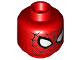 Part No: 3626cpb2754  Name: Minifigure, Head Alien with Spider-Man Black Web and Large White Eyes Pattern - Hollow Stud