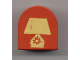 Part No: 3664pb05  Name: Duplo, Brick 2 x 2 x 2 Curved Top with Table Lamp Pattern
