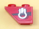 Part No: 3665pb008L  Name: Slope, Inverted 45 2 x 1 with Clevis Shackle Loop and Black Stripe on Red Background Pattern Model Left Side (Sticker) - Set 8863