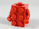 Part No: 37191c01  Name: Torso, 2 x 3 Brick Costume / Red Arms / Red Hands
