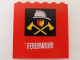 Part No: 3754pb19  Name: Brick 1 x 6 x 5 with Fire Logo and White 'FEUERWEHR' Pattern (Stickers) - Set 7240