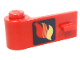 Part No: 3822pb002  Name: Door 1 x 3 x 1 Left with Classic Fire Logo Pattern