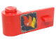 Part No: 3822pb013  Name: Door 1 x 3 x 1 Left with Classic Fire Logo Pattern (Sticker) - Sets 640-2 / 6690