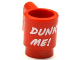 Part No: 3899pb003  Name: Minifigure, Utensil Cup with White 'DUNK ME!' Pattern