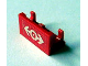 Part No: 3937pb03  Name: Hinge Brick 1 x 2 Base with Train Logo White Pattern (Sticker) - Set 4552