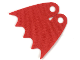Part No: 39444  Name: Minifigure Cape Cloth, Scalloped 5 Points (Batman), Tear-Drop Neck Cut - Spongy Stretchable Fabric