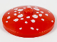 Part No: 3960pb006  Name: Dish 4 x 4 Inverted (Radar) with Solid Stud with White Spots (Mushroom Top) Pattern
