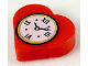 Part No: 39739pb01  Name: Tile, Round 1 x 1 Heart with Clock Pattern