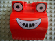Part No: 40647pb02  Name: Duplo Bulldozer Front with Eyes Looking Straight and Smile Pattern (Muck)