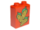 Part No: 4066pb047  Name: Duplo, Brick 1 x 2 x 2 with Corn Pattern