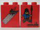 Part No: 4066pb083  Name: Duplo, Brick 1 x 2 x 2 with Knights and Damsels 2004 Pattern