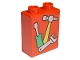 Part No: 4066pb115  Name: Duplo, Brick 1 x 2 x 2 with Screwdriver, Hammer and Wrench Tools Pattern