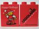 Part No: 4066pb151  Name: Duplo, Brick 1 x 2 x 2 with Happy Holidays 2003 Pattern