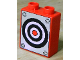 Part No: 4066pb398  Name: Duplo, Brick 1 x 2 x 2 with Target Pattern