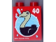 Part No: 4066pb440  Name: Duplo, Brick 1 x 2 x 2 with Ostrich and 40 Visit Legoland Windsor Pattern