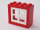 Part No: 4132c04  Name: Window 2 x 4 x 3 Frame with White Window 2 x 4 x 3 Pane (4132 / 4133)