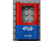 Part No: 4181pb027  Name: Door 1 x 4 x 5 Train Left with Blue Bottom Half and Dutch NS '7715' Pattern (Sticker) - Set 7715