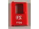 Part No: 4181pb036  Name: Door 1 x 4 x 5 Train Left with White 'FS 7720' Pattern (Sticker) - Set 7720