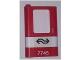 Part No: 4181pb039  Name: Door 1 x 4 x 5 Train Left with White Stripe and Dutch NS '7745' Pattern (Sticker) - Set 7745