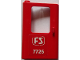 Part No: 4181pb052  Name: Door 1 x 4 x 5 Train Left with White 'FS 7725' Pattern (Sticker) - Set 7725