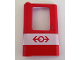 Part No: 4181px1  Name: Door 1 x 4 x 5 Train Left with White Stripe and Train Logo Pattern
