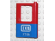 Part No: 4182pb018  Name: Door 1 x 4 x 5 Train Right with Blue Bottom Half and 'DB 7715' Pattern (Sticker) - Set 7715