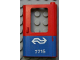 Part No: 4182pb027  Name: Door 1 x 4 x 5 Train Right with Blue Bottom Half and Dutch NS '7715' Pattern (Sticker) - Set 7715