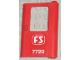 Part No: 4182pb036  Name: Door 1 x 4 x 5 Train Right with White 'FS 7720' Pattern (Sticker) - Set 7720