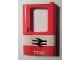 Part No: 4182pb037  Name: Door 1 x 4 x 5 Train Right with White Stripe and British Railways '7745' Pattern (Sticker) - Set 7745
