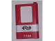 Part No: 4182pb039  Name: Door 1 x 4 x 5 Train Right with White Stripe and Dutch NS '7745' Pattern (Sticker) - Set 7745
