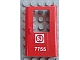 Part No: 4182pb046  Name: Door 1 x 4 x 5 Train Right with Swedish 'SJ 7755' Pattern (Sticker) - Set 7755